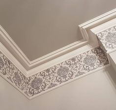 Wallpaper between the coving and picture rail Dado Rail Bedroom, Picture Rail Bedroom, Dado Rail Living Room, Living Room Wallpaper Border, Hallway Wallpaper, Wallpaper Borders, Spare Bedroom Dressing Room Ideas, Spare Room, Eclectic Living Room