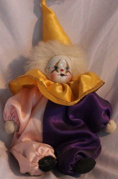 Porcelain jester  clown doll | Collectibles, Decorative Collectibles, Figurines | eBay!