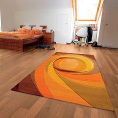 Set highlights rugs 3002 35 in orange buy online from the rug seller uk - Arte Espina - Modern Line