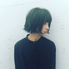 Pin on short hair Haircut Styles For Women, Short Hair Cuts For Women, Short Hair Styles, Summer Hairstyles, Pretty Hairstyles, Bob Hairstyles, Japanese Short Hair, Bob Haircut With Bangs, Pelo Bob
