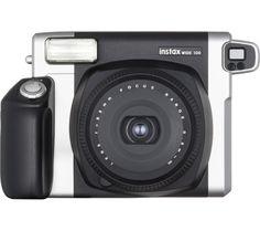 FUJIFILM Instax WIDE 300 Instant Camera - Black & Silver