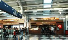 Where to Eat at Chicago O'Hare International Airport (ORD) - Eater Chicago Great American Bagel, Garrett Popcorn Shops, Thai Iced Coffee, Chicago Airport, O'hare International Airport, Airport Food, Pizza Express, Ice Bars