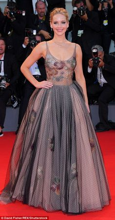 Stunning: Jennifer Lawrence, 27, looked sensational as she stepped out onto the red carpet for the premiere of new movie Mother! at the 74th Venice Film Festival on Tuesday night
