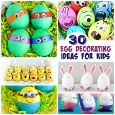 Easter Activities for Kids Toddler Egg Decorating