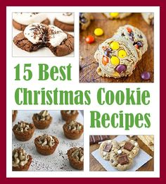 Let the holiday baking begin! Check out the 15 Best Christmas Cookie Recipes #christmas #holiday #cookie #recipes