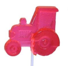 Tractor party favors - lollipops from SweetLollipopShop.etsy.com