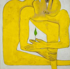 Francesco Clemente: Seed (1991) Tempera on panel
