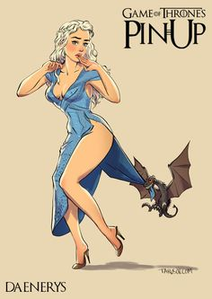 Andrew Tarusov - Illustration, Pin-Ups & Animation | Game of Thrones Pin-Up