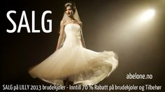 Korte brudekjoler på salg hos www.abelone.no