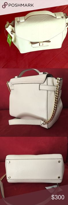 Kate Spade Sadie Shoulder/Hand bag Beige Leather Hand/Shoulder bag New with Tags, Magnetic Closure kate spade Bags Shoulder Bags