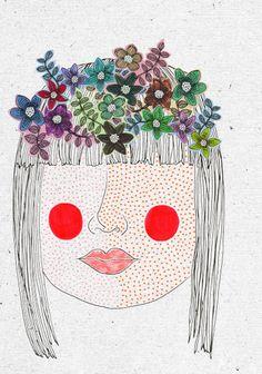 "illustrated by ""veronique de jong"" seen on vlinspiratie.blog... #illustration"