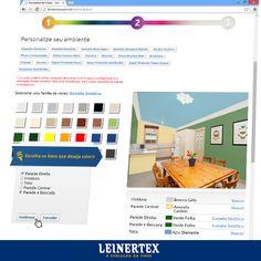 Precisa de uma ajudinha na escolha da cor? Simule o ambiente antes de pintar o ambiente! Corra no site da Leinertex e faça a simulação. www.leinertex.com.br