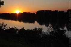 Sunset on the Adige River - Rovigo, Italy, September 2012
