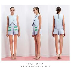 PATINYA RTW, FW2015-16 Collection. Look 23 : Monte Carlo top Size: Freesize Color: Blue, Pink, Nude Fabric: Pique  Cholet shorts Size: S,M,L Color: Blue Fabric: Pique, Lace @patinya_official @guitarpatinya www.patinyabkk.com #patinya #patinyaofficial #patinyabkk #fashion #dress #dresses #THAIDESIGNERS #theoptimisticvibes
