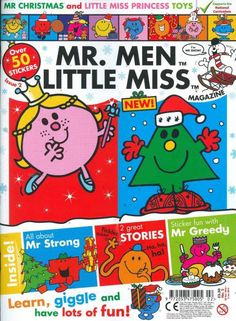 Buy a single issue or subscription to Mr Men and Little Miss magazine from the UK's leading online magazine store. Mr Greedy, Mr Strong, Mr Bump, Mr Men Little Miss, Mr Christmas, Princess Toys, Cool Stickers, Yule, Children's Books