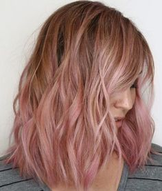 Textured balayage by nadine matar pink blonde hair, coral hair, rose gold blonde, Pink Blonde Hair, Pink Ombre Hair, Best Ombre Hair, Brown Ombre Hair, Hair Color Pink, Gold Blonde, Blonde Pink Balayage, Turquoise Hair Ombre, Coral Hair
