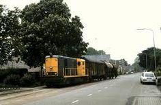 train on a street, hmm