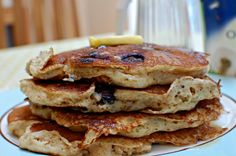 A delicious, healthy, sugar free weekend treat for the entire family Yogurt Pancakes, Healthy Sugar, Sugar Free, Blueberry, Tuesday, Treats, Breakfast, Projects, Food