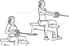 Seated / low cable back rows is a gym work out exercise that targets lower back and also involves biceps and shoulders and upper back & lower traps. Back Cable Workout, Killer Back Workout, Cable Back Exercises, Workout Guide, Workout Challenge, Week Workout, Kanye West Workout Plan, Lower Traps, Cable Row
