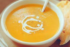 Crock Pot Pumpkin Soup  -- So good this time of the year! (Fall)  www.getcrocked.com