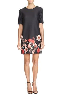 CeCe by Cynthia Steffe 'Majestic Floral' Scuba Knit Shift Dress available at #Nordstrom