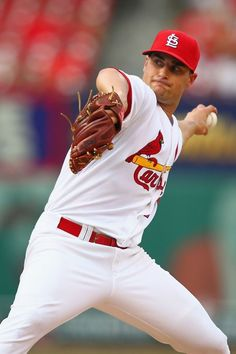Starter Tyler Lyons pitches against the Cincinnati Reds...Cards won the game 8-6.  8-26-13