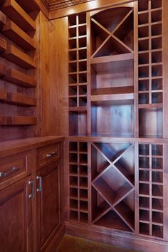 Custom alder wine room - traditional - wine cellar - calgary - Veranda Estate Homes & Interiors
