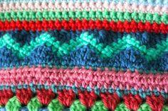 little woollie: Mixed stitch stripey blanket crochet-a-long  Part 3