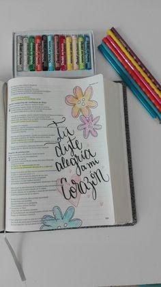 Bible journaling. Mi corazón se regocija de tanto amor que el Padre Celestial me ha dado!!!