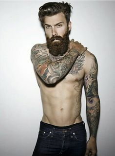 Levi Stocke @LeviStocke #beard #tattoos