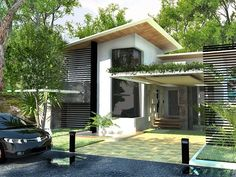images about Filipino inspired Minimalist House Design, Minimalist Home, Modern House Design, Modern Houses, Small Houses, Modern Exterior, Interior And Exterior, Bahay Kubo Design, Filipino Architecture