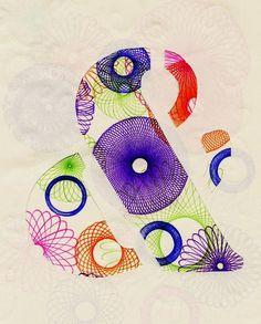 ampersands and spirographs! brilliant.