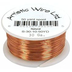 Copper Beading Wire Wrapping Jewelry Parts 30ga 50yds *** Want additional info? Click on the image. (This is an affiliate link) #BeadingJewelryMaking