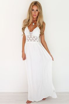 Crochet White Maxi | SABO SKIRT