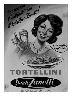 Vintage Italian Posters ~ #illustrator #Italian #posters ~ tortellini