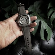 "This handsome SevenFriday watch is paired beautifully with our Bas and Lokes ""Stockholm"" grey handmade nubuck suede watch strap. Available at www.basandlokes.com"