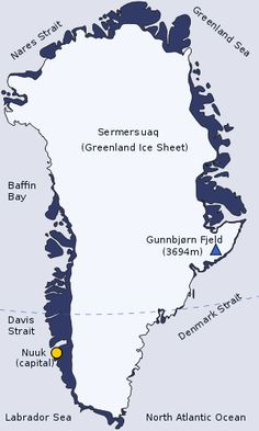 Greenland is the largest island in the world and the main source of icebergs in the Northern Hemisphere. Sometimes the ice can be one to two MILES DEEP!! Five hundred years before Columbus, Erik the Red, a viking, gave Greenland its name to attract settlers.
