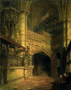 Frederick Mackenzie - The South Ambulatory, Westminster Abbey  http://www.vantiques.nl