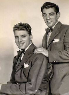 Burt Lancaster & Nick Cravat, 1950, vía @fmaluenda