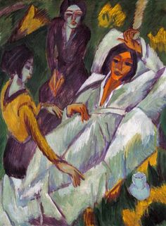 Woman at Tea Time: Sick Woman, 1914 - Ernst Ludwig Kirchner Emil Nolde, Ernst Ludwig Kirchner, Davos, Kandinsky, Renoir, Van Gogh, Expressionist Artists, Neo Expressionism, Portraits