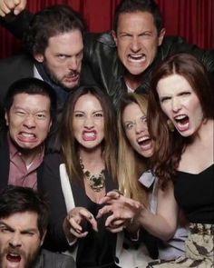 "Bree Turner and the cast of ""Grimm"" O Grimm, Grimm Cast, Grimm Film, Grimm Series, Tv Series, Bree Turner, Nick Burkhardt, Grimm Tv Show, Sasha Roiz"