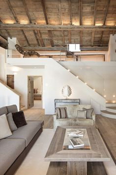 Just stunning colors that blend naturally mixing a modern look with rustic wood. St. Moritz, Grisons | homeadverts.com