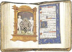 Anne Boleyn's Psalter (prayer book) of between 1529 - 1532. It is written in her preferred language of French. The left page has a shield showing she is the daughter of Rochford (the black lion was her father's symbol, the lozenge shape indicates a female in heraldry). The letters have never been properly deciphered - it is thought they held a special meaning, now lost, for Anne and King Henry VIII.