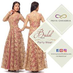 Grand dresses for grand celebrations- Bridal wear by Priya Chhabria <3 #priyachhabria #dresses #desistyle #indowestern #bridalwear #wedding #weddingdress #celebrations #indianstyle #grand #stylish #gown #bridelicious #indianwear #fashion #fashionwear #weddingvows #bride #bridetobe #shopnow