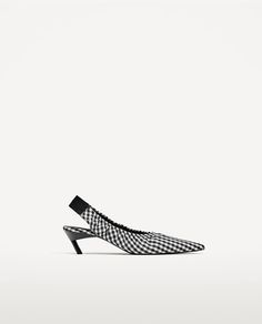 Image 2 of STRETCH SLINGBACK HEELED SHOES from Zara