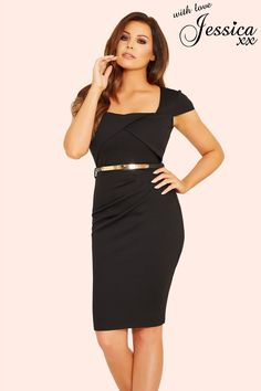 d235b4ec Buy Jessica Wright Pleated Wrap Bodycon Dress from the Next UK online shop
