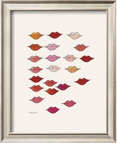 Stamped Lips, c. 1959 Art Print by Andy Warhol at Art.com, $89.99. #lipsprint