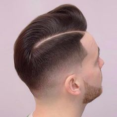 Taper Fade with Deep Part - High Fade, Skin Fade, Fade Haircut, Mid Fade Comb Over, Comb Over Fade Haircut, Short Comb Over, Low Fade Haircut, Classic Hairstyles, Trendy Hairstyles, Straight Hairstyles, Short Hair Cuts, Short Hair Styles