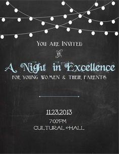 Young Women in Excellence Invite