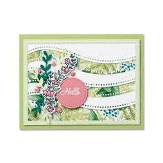 Everything you need to make this card! Bundle: Quite Curvy Bundle Paper: Forever Greenery Designer Series Paper, Rocco Rose, Soft Seafoam, Whisper White, and Shaded Spruce Cardstock Ink: Memento, Versamark, White Stampin' Embossing Powder Accessories: Butterfly Gems - Contact your Stampin' Up! Demonstrator or go to our online store today!